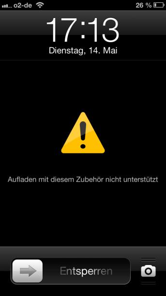 iPhone Zubehör wird nicht unterstützt