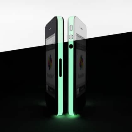 bumpskin leuchtende Folie für iPhone 4, 4S Mittelrahmen
