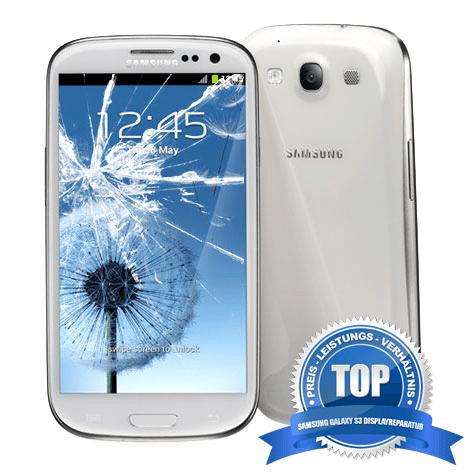 Samsung Galaxy S3 Display Reparatur in der Farbe weiß