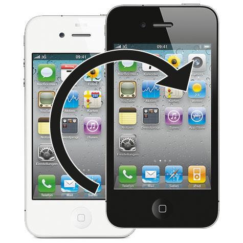 iPhone 4S Farbumbau in schwarz und weiss