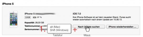 iOS 7 auf dem iPhone mit iTunes installieren