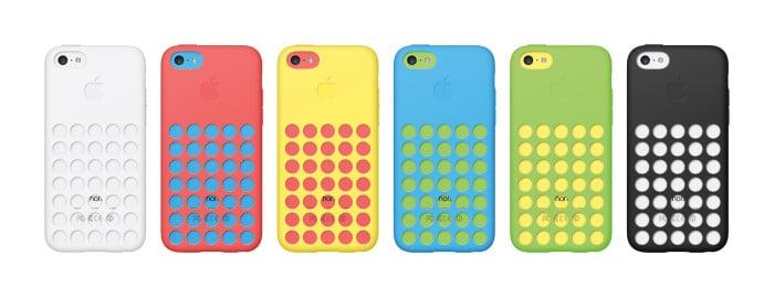 iPhone 5C Cases (Schutzhüllen) in sechs verschiedenen Farben