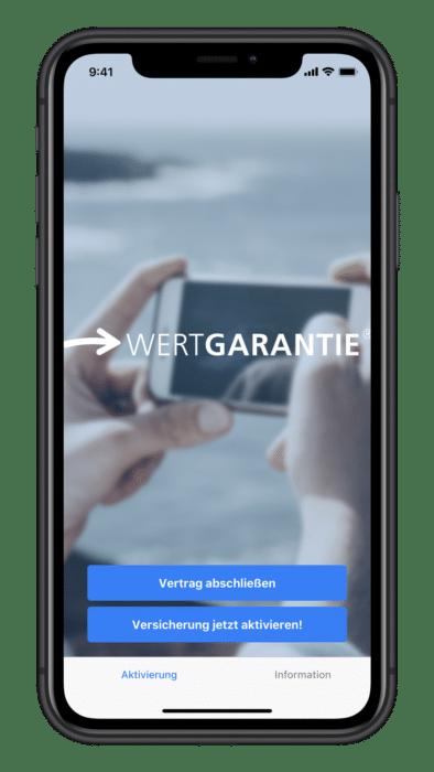 Wertgarantie iPhone App