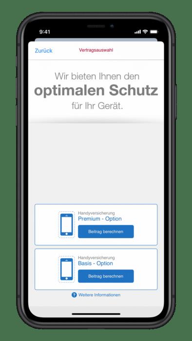 Wertgarantie Handy App